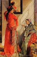 Indoor Gossip painting reproduction, John Frederick Lewis