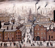 Industrial Landscape painting reproduction, Laurence Stephen Lowry