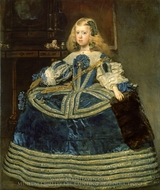 Infanta Margarita in a Blue Dress painting reproduction, Diego Vel�zquez