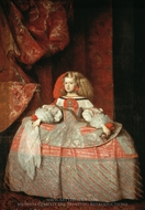 Infanta Margarita in Pink and Silver painting reproduction, Diego Velazquez