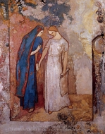 Initiation to Study painting reproduction, Odilon Redon