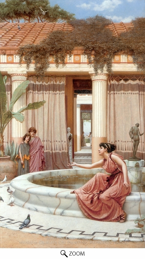 John William Godward, Innocent Amusements oil painting reproduction
