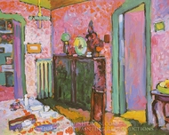 Interior (My Dining Room) painting reproduction, Wassily Kandinsky