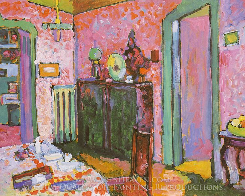 Wily Kandinsky Interior My Dining Room Oil Painting Reproduction