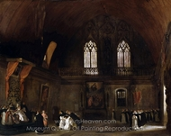 Interior of a Dominican Convent in Madrid painting reproduction, Eugene Delacroix