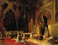 Interior of the Mosque at Cordova painting reproduction, Edwin Lord Weeks
