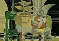 Interior with Palette painting reproduction, Georges Braque
