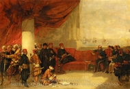 Interview With Mehmet Ali In His Palace at Alexandria painting reproduction, David Roberts