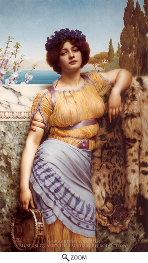 John William Godward, Ionian Dancing Girl oil painting reproduction