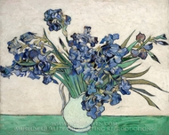 Irises painting reproduction, Vincent Van Gogh