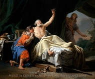 Isaac Blessing Jacob painting reproduction, Nicolas-Guy Brenet