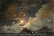 Ischia and the Bay of Naples by Moonlight painting reproduction, Pierre Henri De Valenciennes