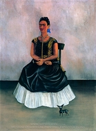 Itzcuintli Dog with Me painting reproduction, Frida Kahlo