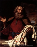 Jacob Receiving Josephs Coat painting reproduction, Guercino