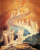 Jacob's Ladder painting reproduction, William Blake