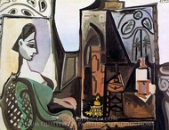 Jacqueline in the Studio painting reproduction, Pablo Picasso (inspired by)