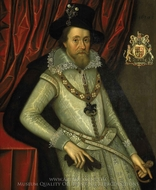 James I painting reproduction, John De Critz
