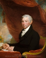 James Monroe painting reproduction, Gilbert Stuart