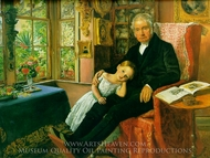 James Wyatt and His Granddaughter Mary painting reproduction, John Everett Millais