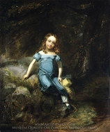 Janet Halleck Drake painting reproduction, Henry Inman