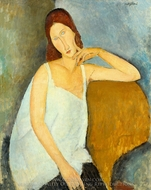 Jeanne Hebuterne painting reproduction, Amedeo Modigliani