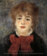 Jeanne Samary painting reproduction, Pierre-Auguste Renoir