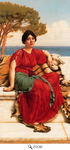 John William Godward, John W. by the Blue Ionian Sea oil painting reproduction