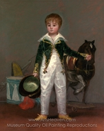 Jose Costa y Bonells, Called Pepito painting reproduction, Francisco De Goya