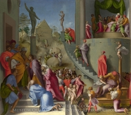 Joseph with Jacob in Egypt painting reproduction, Jacopo Pontormo