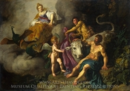Juno Discovering Jupiter with Io painting reproduction, Pieter Lastman