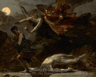 Justice and Divine Vengeance Pursuing Crime painting reproduction, Pierre Paul Prudhon