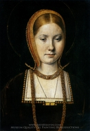 Katherine of Aragon painting reproduction, Michiel Sittow
