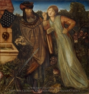 King Mark and La Belle Iseult painting reproduction, Edward Burne-Jones
