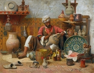 L'Atelier de Poterie, Tanger painting reproduction, Jean Discart