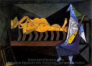 L'Aubade (Nu Allonge avec Musicienne) painting reproduction, Pablo Picasso (inspired by)