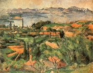 L'Estaque and the Gulf of Marseilles painting reproduction, Paul Cezanne