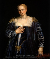 La Belle Nani, Portrait of a Woman painting reproduction, Paolo Veronese