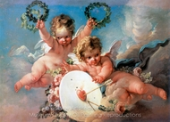 La Cible D'Amour (Love Target) painting reproduction, Francois Boucher