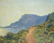 La Corniche near Monaco painting reproduction, Claude Monet