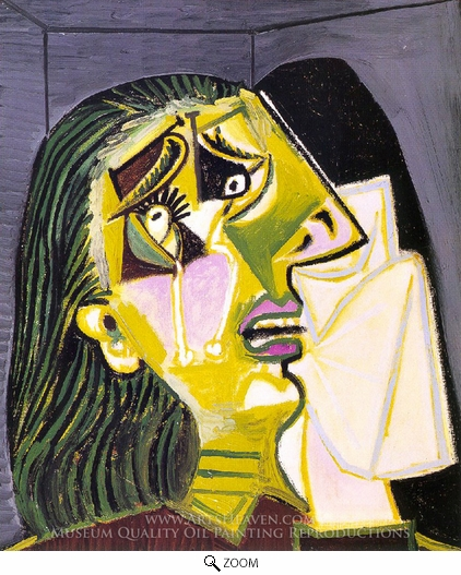 Pablo Picasso (inspired by), La Femme Qui Pleure oil painting reproduction