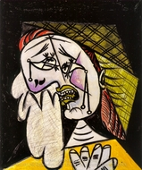 La Femme Qui Pleure au Foulard painting reproduction, Pablo Picasso (inspired by)