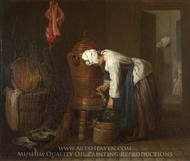La Fontaine (The Water Cistern) painting reproduction, Jean Simeon Chardin