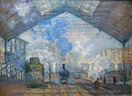 La Gare Saint-Lazare painting reproduction, Claude Monet