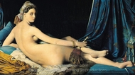 La Grand Odalisque painting reproduction, Jean Auguste Dominique Ingres