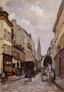 La Grande-Rue, Argenteuil painting reproduction, Alfred Sisley