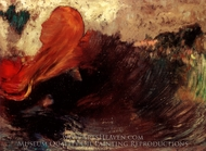 La Mort D'Ophelie painting reproduction, Odilon Redon
