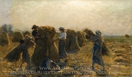 La Recolte painting reproduction, Jules Breton