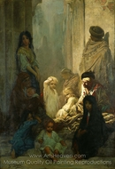 La Siesta, Memory of Spain painting reproduction, Gustave Dore
