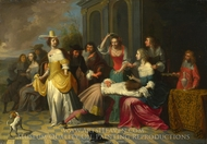 Ladies and Gentlemen playing La Main Chaude painting reproduction, Hieronymus Janssens