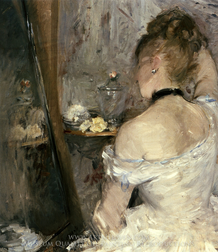Reproduction Painting Berthe Morisot Lady at Her Toilet ...